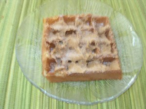 A Hong Kong Waffle spread with Peanut Butter and Sugar