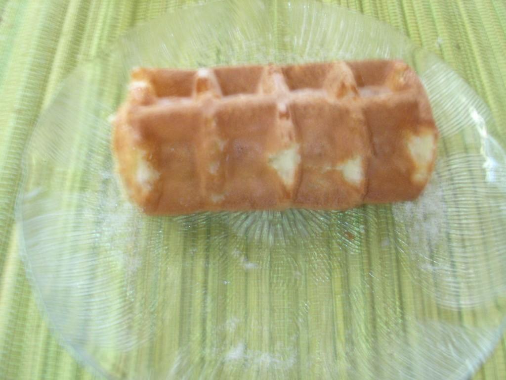 A rolled Hong Kong Waffle