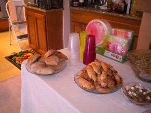 Homemade Croissants and Ciabatta