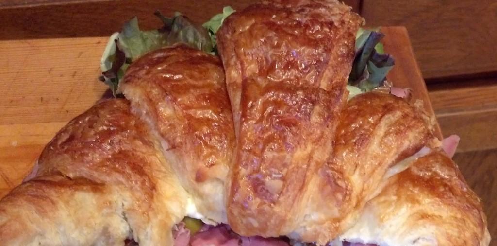 Rare Roast Beef on Croissant