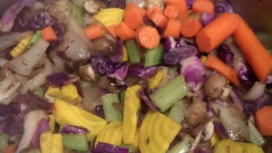Vegies before Broth Added