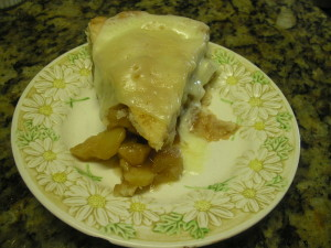 Apple Pie Slice with Chees