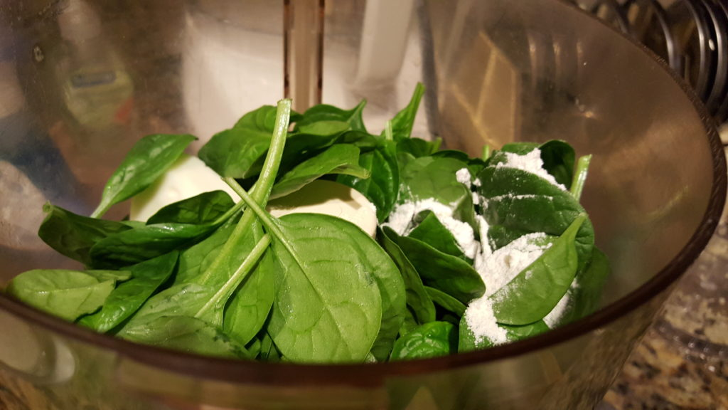 Spinach-Butter-and-Flour-in-Processor