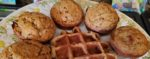 Waffles & Muffins recycled from Oatmeal Raisin Cookies